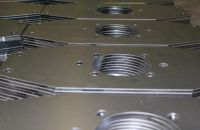 Stahl Laserzuschnitt Galvanisch Blau verzinkt