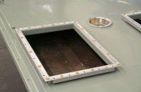 Aluminium Al99,5 Anschlußflansch MIG Geschweißt Innenraum Pulverbeschichtet