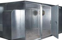 Schallschutzkabine System 60 mit Tür und Lüfter
